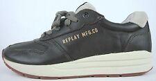 REPLAY Sneaker Low Happen Herren Schuhe Leder Oliv Gr.42 NEU mit ETIKETT