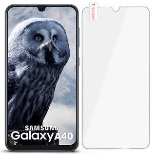 Panzer-Folie-Glas-Folie-fuer-Samsung-Galaxy-A40-Hart-Protection-Display-Schutz