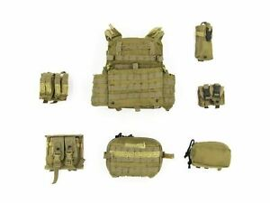 1-6-Scale-Toy-Navy-Seal-Team-10-Tan-Tactical-Vest-amp-Pouches-Set