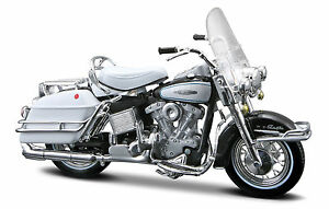 Harley-Davidson-1966-Flh-Electra-Glide-1-18-Negro-Modelo-Moto-de-Metal
