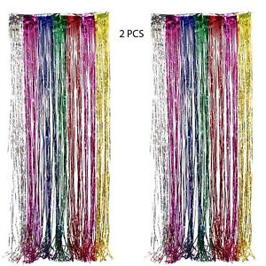 Image Is Loading Birthday Party Rainbow Curtains Balloon Banner Kit