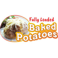 Baked Potatoes Concession Decal Sign Cart Trailer Stand Sticker Equipment