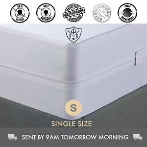 Bed-Bug-Dust-Mite-Allergy-Waterproof-Mattress-Protector-amp-Cover-Single-Size