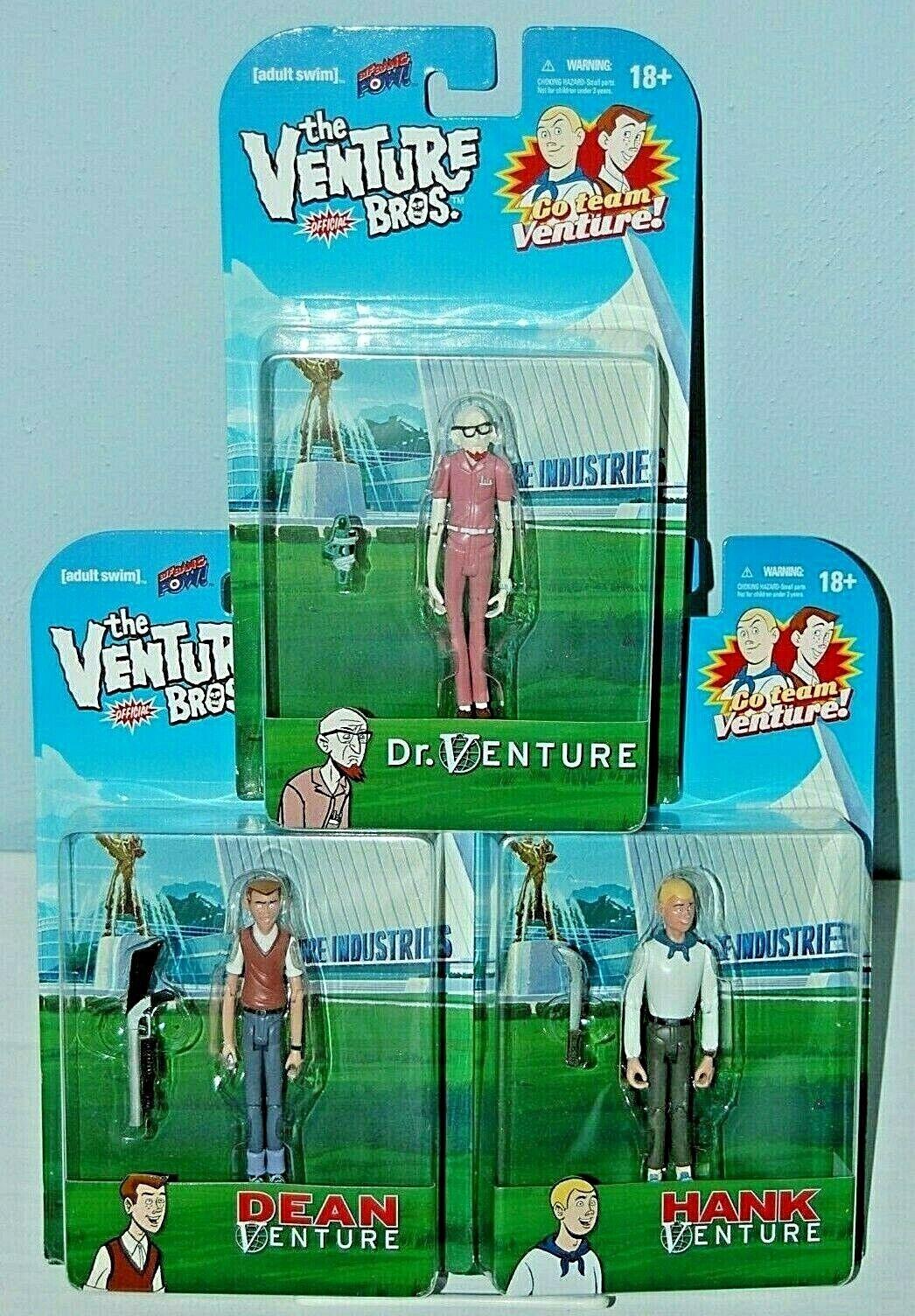 The Venture Bros Dr Venture, Hank & Dean  Action Figure Set FREE S H