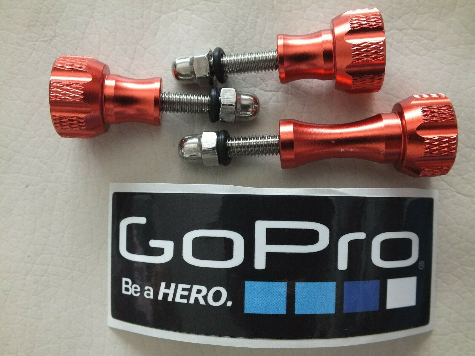 3 Aluminium alloy Knob Thumb Screw Mount for Gopro hero 3 4 5 6 7 & 8 + Sticker