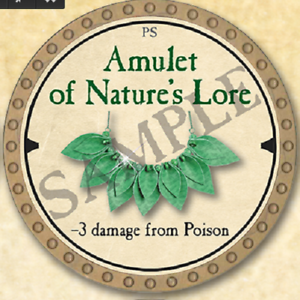 Details about True Dungeon Token - Amulet of Natures Lore