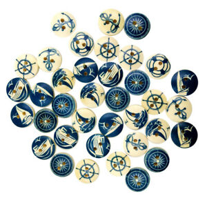 100-Round-Wooden-Flat-Buttons-Sewing-2-Holes-Buttons-for-Scrapbooking-15mm