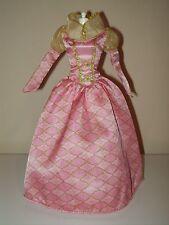 Barbie Princess Cinderella Masquerade Dress Medieval Renaissance Gown Pink Gold