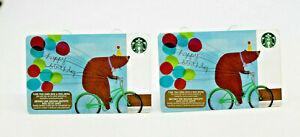 Starbucks Coffee 2015 Gift Card Happy Birthday Bear ... Happy Gift Card Balance