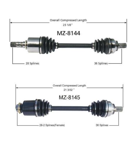 04-01//06//05 Mazda 3 2.0 2.3 M//T P//S /& D//S CV Drive Axle Shaft MZ8144 MZ8145