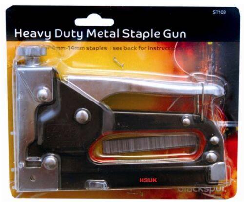Blackspur Heavy Duty Métal Agrafeuse adapté 4 mm pour 14 mm