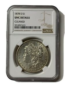 1878-S-Morgan-Dollar-Key-1st-Year-Date-US-Silver-Coin-UNC-Details