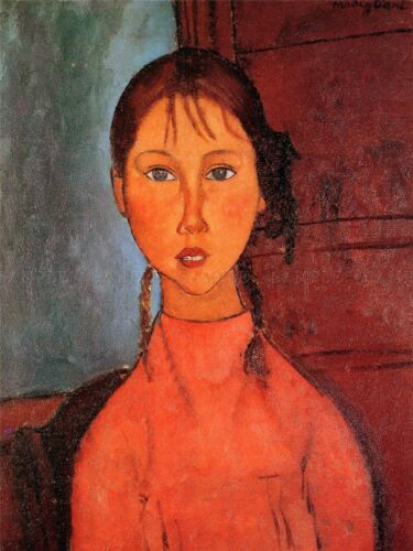 AMEDEO MODIGLIANI GIRL WITH PLAITS OLD MASTER ART PAINTING PRINT POSTER 146OMA