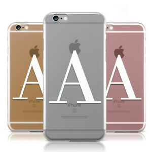 online retailer 8075a 0f034 Details about PERSONALISED WHITE BIG INITIAL CLEAR CUSTOM PHONE CASE COVER  FOR APPLE IPHONE