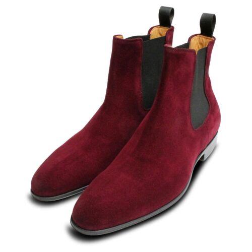 Burgundy Boots Suede Velour Chelsea Rich Mens xH1Zwqxdf