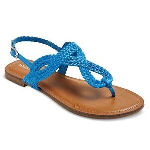 2f57c5ebfdd5 Merona Women s Jana Thong Sandals - Cobalt - Size  6.5 490960528469 ...