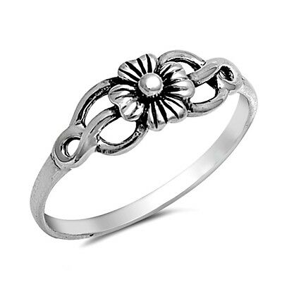.925 Sterling Silver Ring size 9 Celtic Rose Midi Knuckle Flower New
