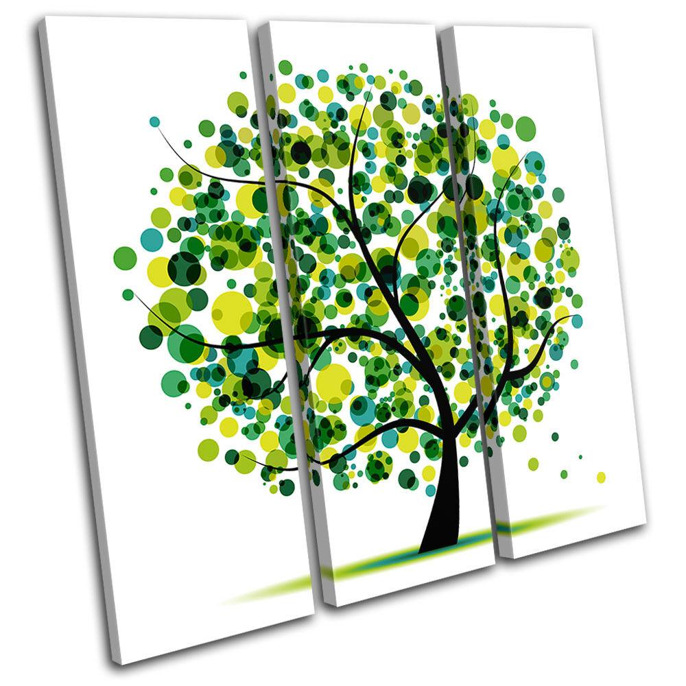 Abstract Tree Tree Tree Illustration TREBLE TELA parete arte foto stampa 097ed4