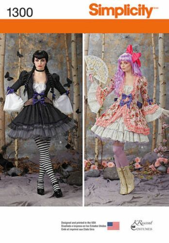 Simplicity Pattern 1300 Halloween Costumes Victoriana You Choose Sizes
