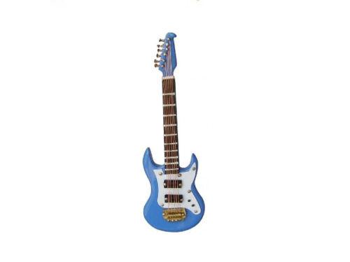 1:12 E-Gitarre blau 12 cm FL0575 für die Puppenstube Preis pro Stück! Möbel