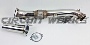 OBX Exhaust Resonated Downpipe For 2013 To 2018 Ford Focus ST Ecoboost 2.0L