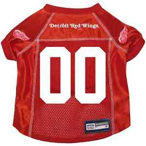 best service d14ed e8d00 Details about NEW DETROIT RED WINGS PET DOG PREMIUM ALTERNATE JERSEY w/NAME  TAG ALL SIZES