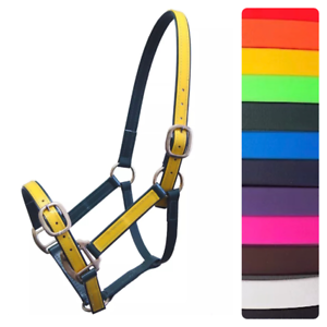 Horse Halter Head Collar 1  PVC BRASS FittingsAdjustableMini Pony Cob Full