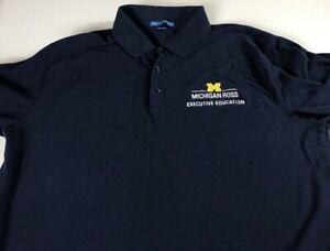 Michigan-Wolverines-Polo-Shirt-Mens-SZ-M-L-Executive-Education-Business-School