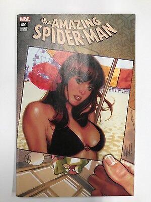AMAZING SPIDER-MAN #1  #800  ADAM HUGHES Black Cat Variant NM