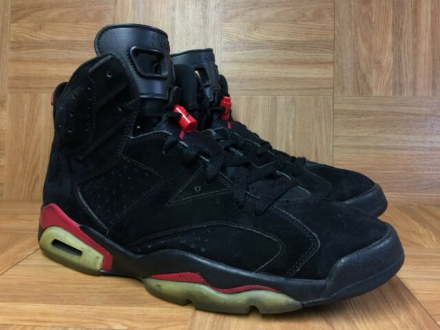 RARE🔥 Nike Air Jordan 6 VI Retro Black Varsity Red Sz 11 384664-061 Infrared LE