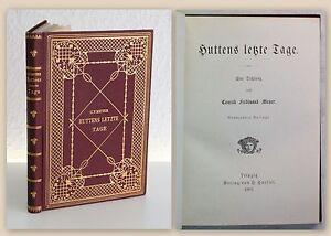 Meyer-Huttens-letzte-Tage-Eine-Dichtung-1901-Prachtband-Lyrik-Gedichte-xz