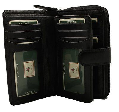 Visconti HT33 Ladies Soft Leather ID Wallet Purse for Travel Work Gift Fashion