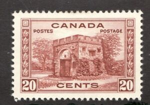 243-Canada-1938-20-Cent-stamp-MH-VF-superfleas