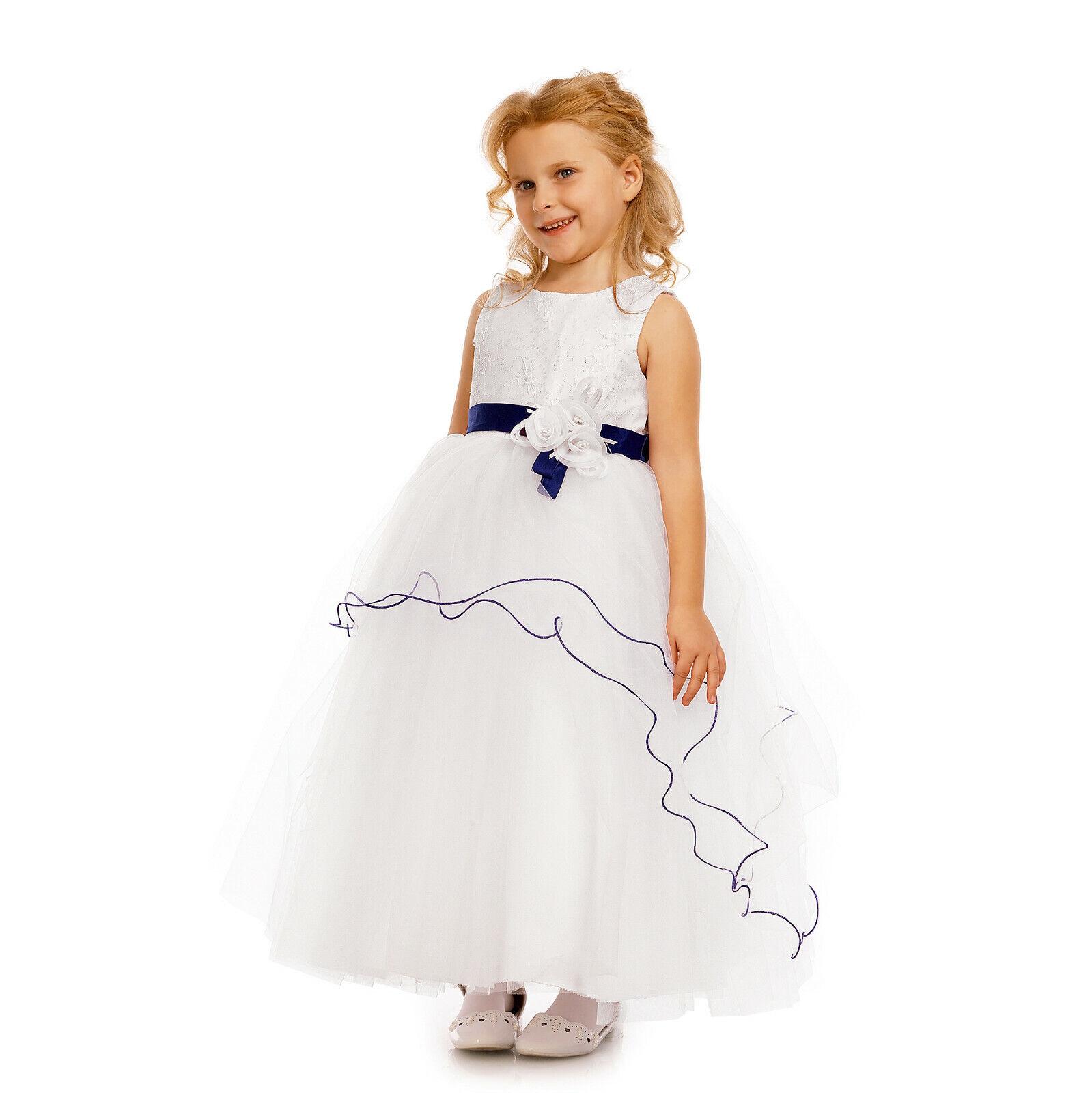 Bridesmaid Dress Flower Girl Party Dress Pink Blue Purple 2 3 4 5 6 7 8 9 Years