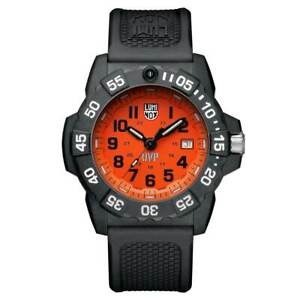 Luminox-Men-039-s-Watch-Set-Scott-Cassell-UVP-3500-Series-Orange-Dial-3509-SC-SET