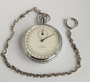 Fitness, Running & Yoga Antique Responsible Swiss 1960's Lemania Racing Mechanical Stopwatch Shrink-Proof