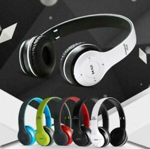 Wireless-Bluetooth-Headphones-Stereo-Headset-Noise-Cancelling-Over-Ear-w-Mic-hot