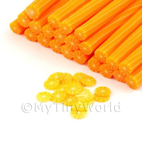 3x hecho a mano sin piel naranja Bastones dnc56 Arte Uñas