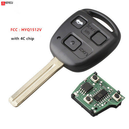 Remote Car Key Fob 3Button 4C chip for Lexus GS300 GS400 ES3001997-2005 HYQ1512V