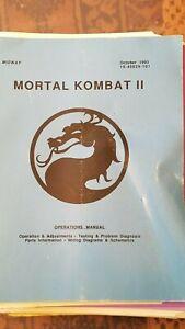 Mortal Kombat Ii Operation Manual Oct 1993 Includes Schematic Rapid Heat Dissipation