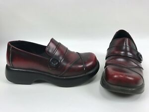 1c3217d33f4 Dansko Womens 37 6.5 - 7 Red Rub Leather Button Loafer Clog ...