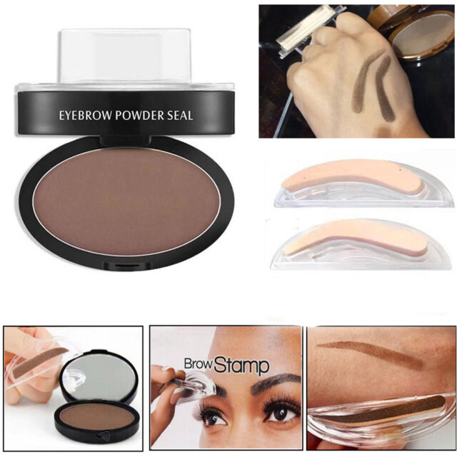 Natural Eyebrow Powder Shadow Definition Makeup Brow Stamp Palette Delicated