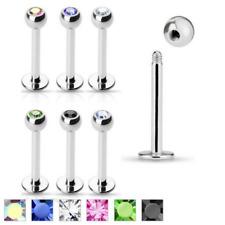 """1 Single Fancy Clear CZ Pad Lock Ear Tragus Ring 16g 1//4/"""" Bar Gemstone Gem 125"""