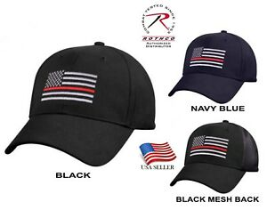 Support-Firefighter-Thin-Red-Line-Flag-Cap-Low-Profile-Hat-Baseball-Fire-Dept