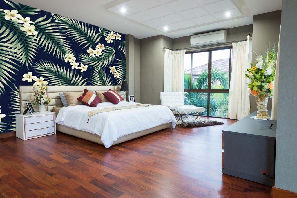 3D Blüten Grüne Blätter 74 Tapete Wandgemälde Tapete Tapeten Bild Familie DE  | Ausgezeichnete Leistung  | Realistisch  | Schöne Farbe