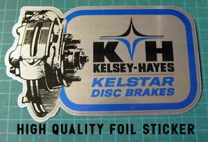 VINTAGE-KELSEY-HAYES-KELSTAR-DISC-BRAKES-FOIL-DECAL-STICKER-SCCA-TRANS-AM-RACING