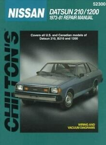 total car care repair manuals nissan datsun 210 and 1200 1973 1981 rh ebay com 1980 Datsun 210 2 Door 1981 Datsun 210 Interior