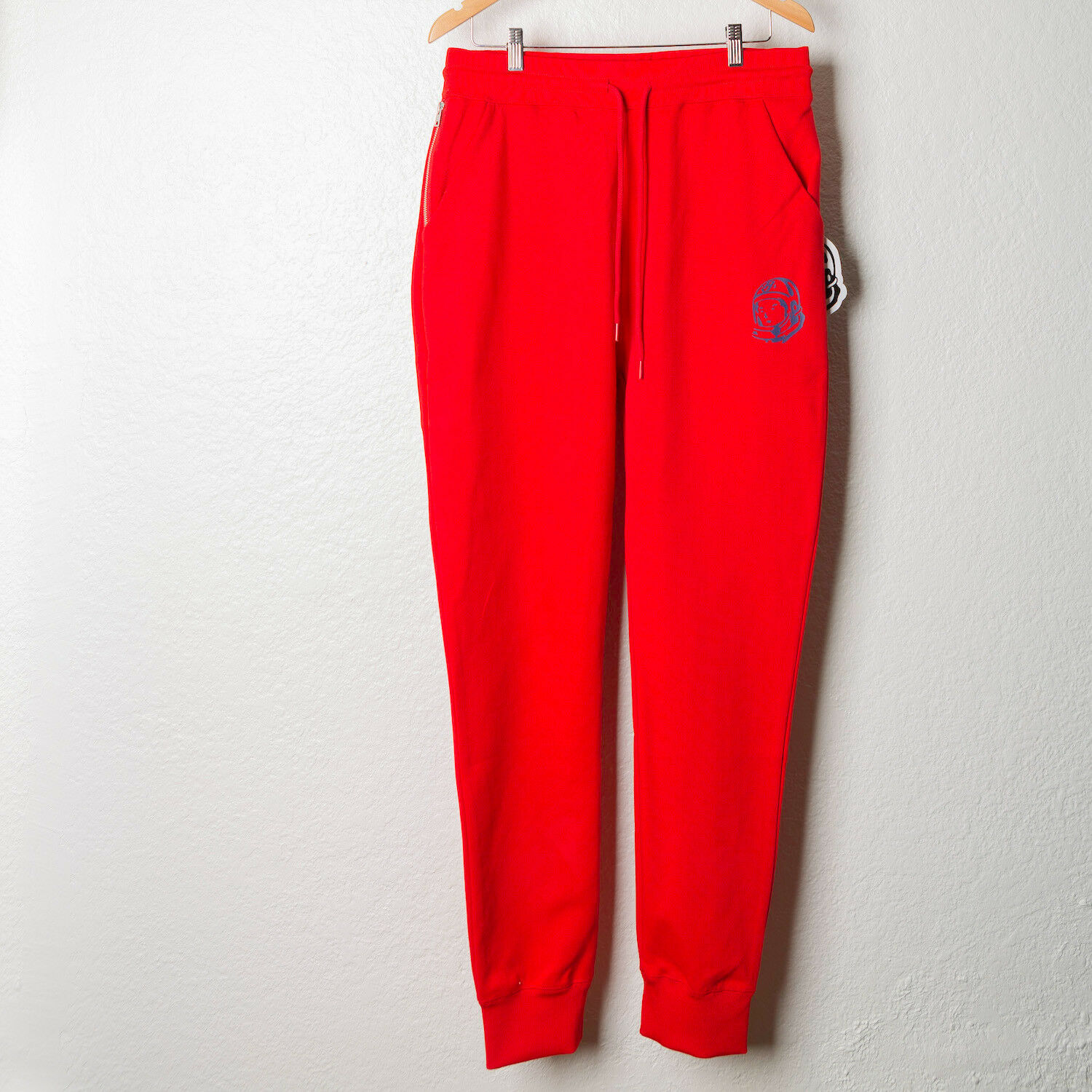 BILLIONAIRE BOYS CLUB BBC STREETWEAR SWEATPANTS DRAWSTRING BB RED SWEATS M L XL