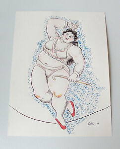 Fernando-Botero-039-Equilibrista-039-2007-ink-watercolor-sketch-3rd-stage-signed