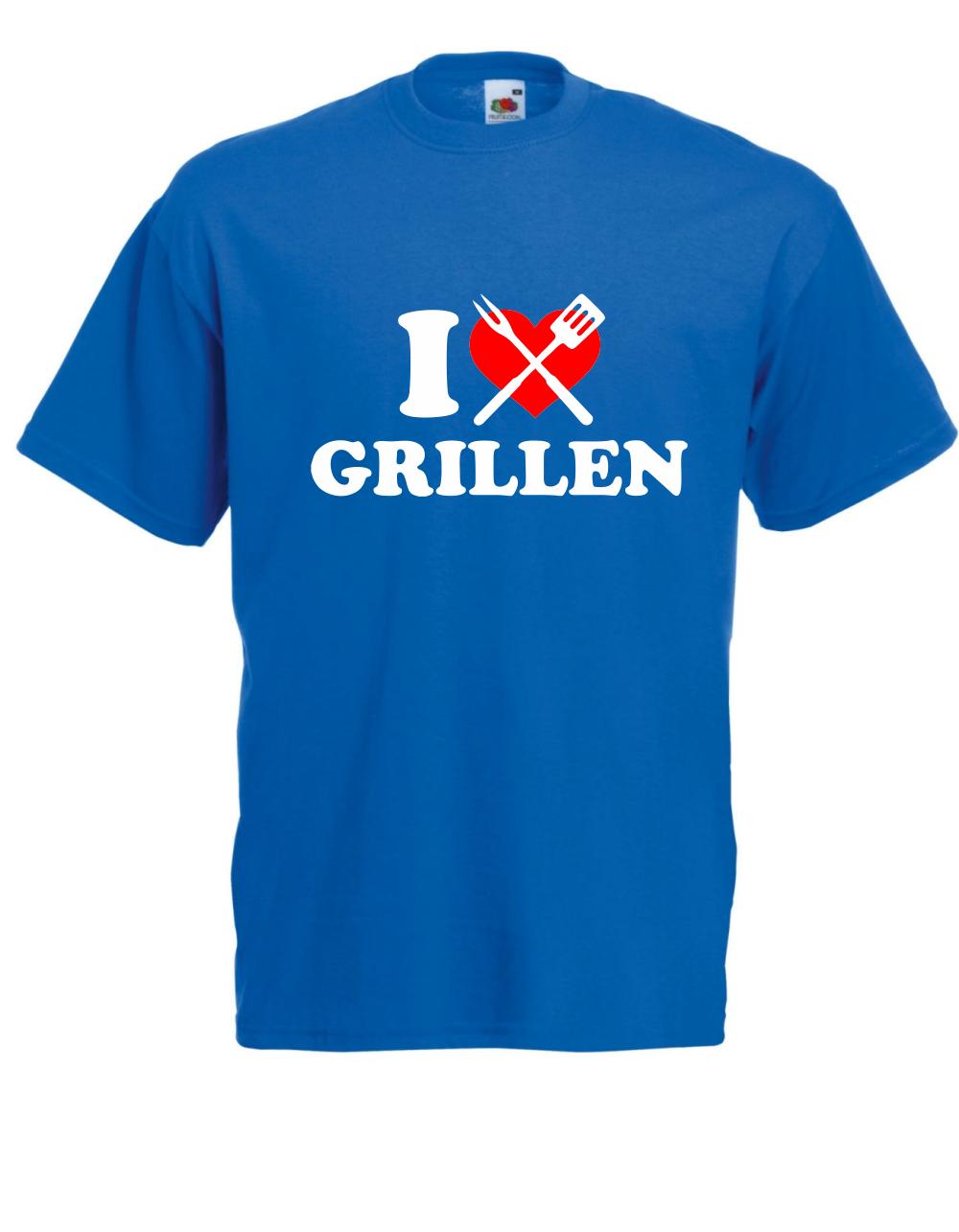 T-Shirt / pour Hommes I Love Barbecue / T-Shirt Jusqu'à 5XL 0e64cf